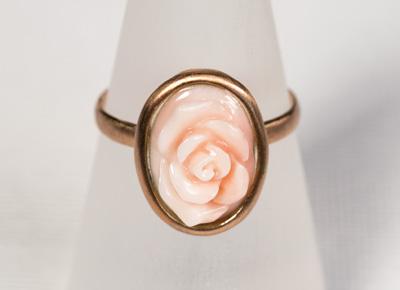 Ring Koralle Rose